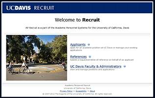 Screenshot of the RECRUIT website